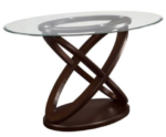 Dalilah Counter Height Table with Oval Tempered Glass Top